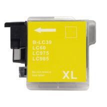 LC39 | LC980 |  LC985 | LC1100 Y sárga festékpatron, utángyártott, NN