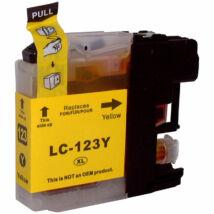 LC123Y yellow utángyártott festékpatron, PQ
