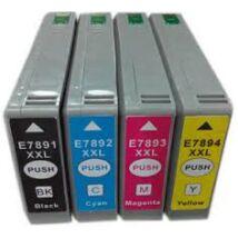 T7892 cyan festékpatron, utángyártott (C13T789240)