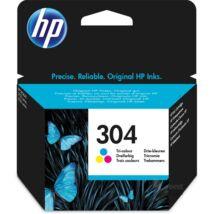 304 N9K05AE színes, eredeti festékpatron HP DeskJet 2620, 2630, 2632