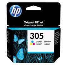 305 (3YM60AE) színes, eredeti, normál kapacitású festékpatron, DeskJet 2320, 2710, 2720, 4120, 4130