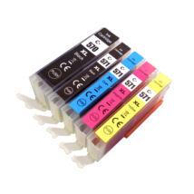 PGI-570XL PGI570XL CLI-571XL CLI571XL Bk-C-M-Y chipes festékpatron csomag - utángyártott MG5750