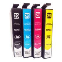 T2995 T2996 29XL Bk+C+M+Y festékpatron csomag - utángyártott XP-235 XP235 XP-322 XP322 XP-332 XP3