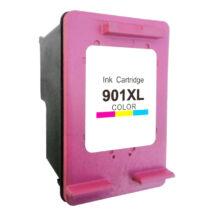 901 - 901XL (CC656AE C656A) színes patron - utángyártott QP kb. 700 oldal