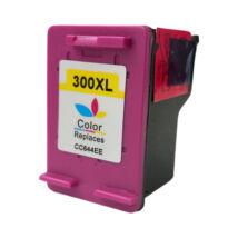 300XL (CC644EE) színes festékpatron, utángyártott, EZ