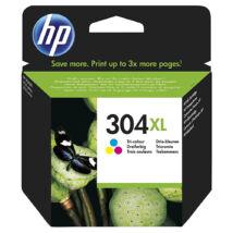 304XL N9K07AE színes, eredeti festékpatron HP DeskJet 2620, 2630, 2632, 3720, 3730