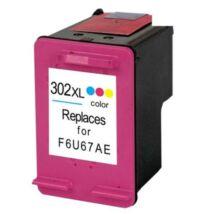 302XL F6U67AE színes, nagy kapacitású utángyártott GR festékpatron Deskjet 2130 1110 3630 3830 4650
