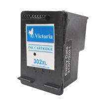 302XL  F6U68AE fekete, nagy kapacitású utángyártott VI festékpatron Deskjet 2130 1110 3630 3830 4650