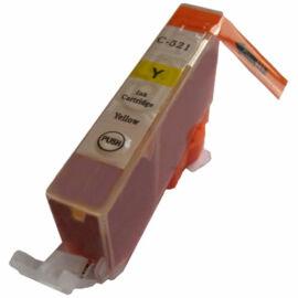 CLI-521 Y festékpatron, utángyártott, chipes, sárga, QP
