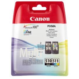 PG-510+CL-511 (2970B010) festékpatron csomag, fekete+színes, eredeti