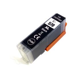 PGI-570XL Bk (0318C001) festékpatron, utángyártott, fekete, nagy kapacitású, DT