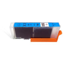 CLI-551XL C (6444B001) festékpatron, utángyártott, cyan, nagy kapacitású, GR/PQ