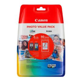 PG-540XL+CL-541XL (5222B013) fetsékpatron csomag, fekete+színes+fotópapír, nagy kapacitású, eredeti