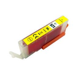 CLI-571XL Y (0334C001) festékpatron, utángyártott, sárga, nagy kapacitású, PQ