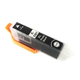 33XL (T3361XL) PGBk festékpatron, utángyártott, fotó fekete, nagy kapacitású, PQ/QP/EZ