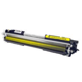 CE312A (126A) / CF352A (130A) toner, utángyártott, chipes, sárga, 1.1k, DT