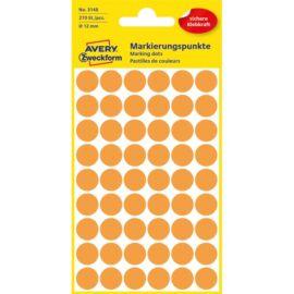 Avery 3148 12mm 270db-os világosnarancs jelölőpont