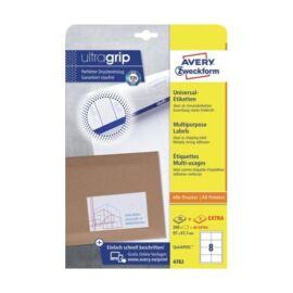 Avery 4782 QP 97x67,7mm univerzális 240db-os etikett