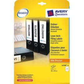 Avery L4760-25 192x38mm iratrandezőhöz 175db-os fehér etikett