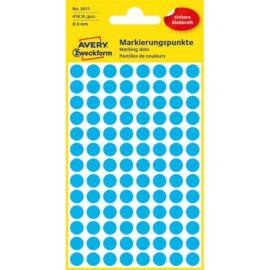 Avery 3011 8mm 416db-os kék jelölőpont
