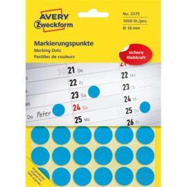 Avery 3375 18mm 1056db-os kék jelölőpont