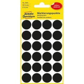 Avery 3003 18mm 96db-os fekete jelölőpont