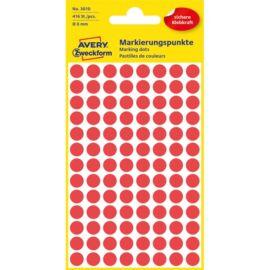 Avery 3010 8mm 416db-os piros jelölőpont