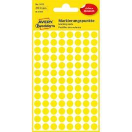 Avery 3013 8mm 416db-os sárga jelölőpont