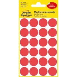 Avery 3595 18mm visszaszedhető 96db-os piros jelölőpont