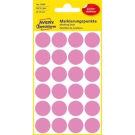 Avery 3599 18mm visszaszedhető 96db-os rózsaszín jelölőpont