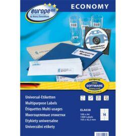 Avery Europe100 ELA038 105x42,3mm univerzális 1400db-os etikett