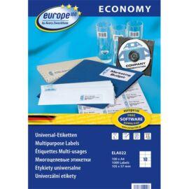 Avery Europe100 ELA022 105x57mm univerzális 1000db-os etikett