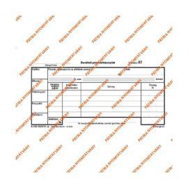 """B.318-102/A/V 25x3lapos """"Bevételi pénztárbizonylat"""" nyomtatvány"""