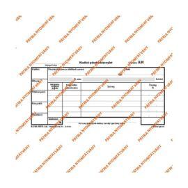 """B.318-103/V 25x2lapos """"Kiadási pénztárbizonylat"""" nyomtatvány"""