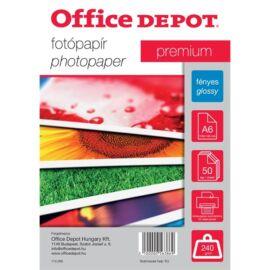 Office Depot Premium A6 240g fényes 50db fotópapír
