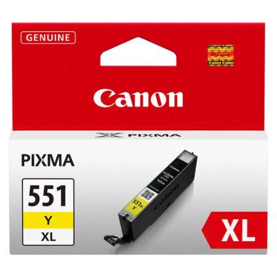 CLI-551XL Y CLI-551Y XL nagykapacitású eredeti festékpatron IP7250/MG5450/MG5550/MG6350