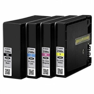 PGI-2500XL PGI2500XL Bk-C-M-Y tintaparon csomag - eredeti iB4050 MB5050 MB5350 ib4150 MB5150 MB5450