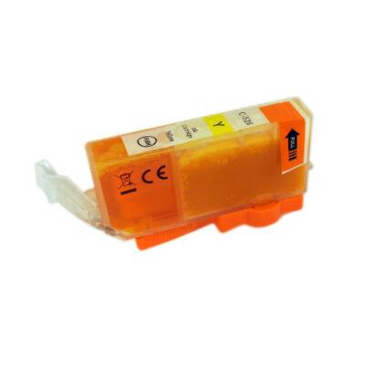 CLI-526Y utángyártott festékpatron - PQ + chip! IP4850 IX6550 MG5150 MG5250 MG6150 MG8150 MG5350