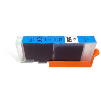 CLI-551XL C CLI-551C XL nagykapacitású (12ml!) +chip utángyártott PQ patron IP7250/MG5450/MG5550/MG6