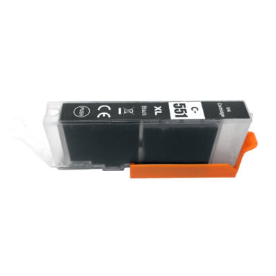 CLI-551XL Bk CLI-551Bk XL nagykapacitású (12ml!) +chip utángyártott PQ patron IP7250/MG5450/MG5550