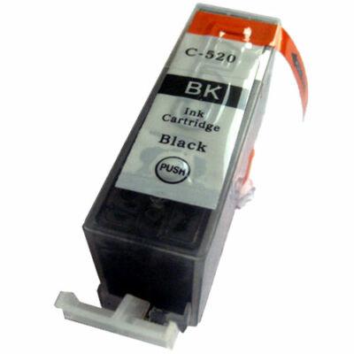 PGI-520Bk utángyártott chipes festékpatron-PQ iP3600 4600 4700 MP540 550 560 620 630 640 980 990 MX
