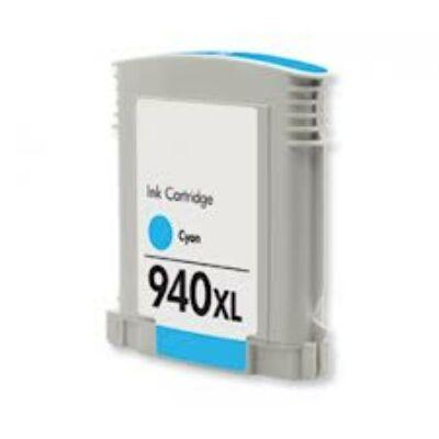 940XL (C4907A) cyan chipes patron - utángyártott DT, kb. 1600 oldalhoz