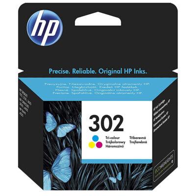 302 F6U65E színes, eredeti normál kapacitású festékpatron  Deskjet 2130 1110 3630 3830 4650 4520