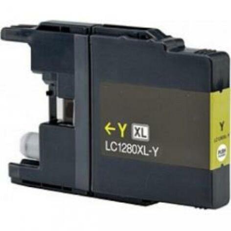 LC1240, LC1280XL Y yellow festékpatron, utángyártott, QP