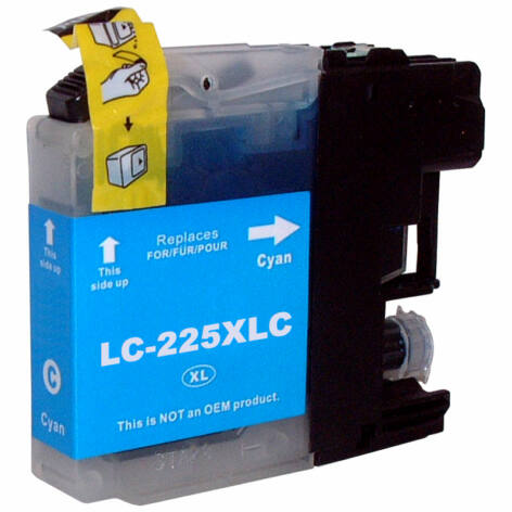LC225XL C cyan festékpatron, utángyártott, PQ