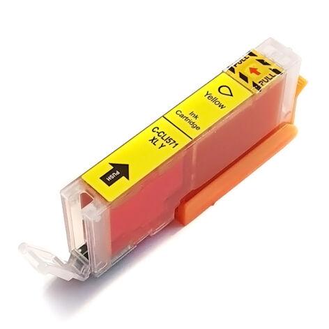 CLI-571XL CLI571XL Y yellow festékpatron - utángyártott WB MG5750 MG5751 MG5752 MG5753 MG6850 MG77