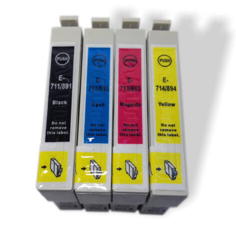 T0715 (T0711+T0712+T0713+T0714) 4*19ml tintával festékpatron csomag - utángyártott PQ