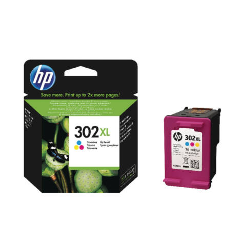 302XL F6U67AE színes, nagy kapacitású eredeti festékpatron Deskjet 2130 1110 3630 3830 4650 4520