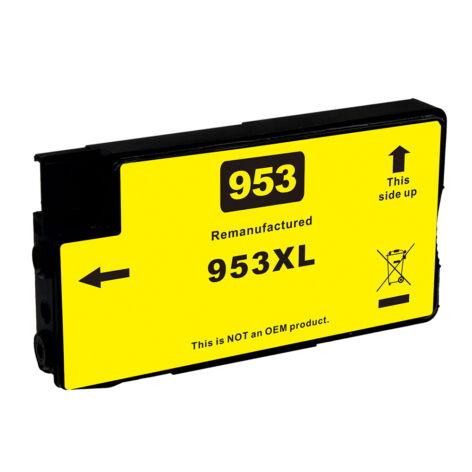953XL (F6U18AE) yellow festékpatron, utángyártott, VI