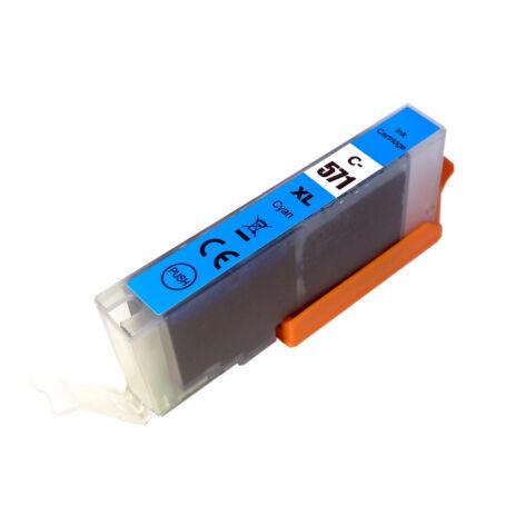CLI-571XL CLI571XL C cyan festékpatron - utángyártott PQ MG5750 MG5751 MG5752 MG5753 MG6850 MG77